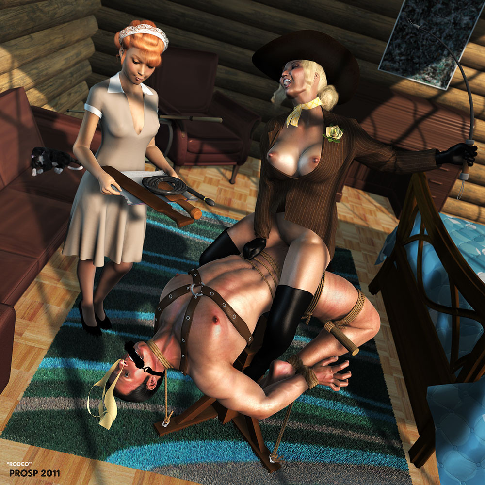 Helpless male slaves