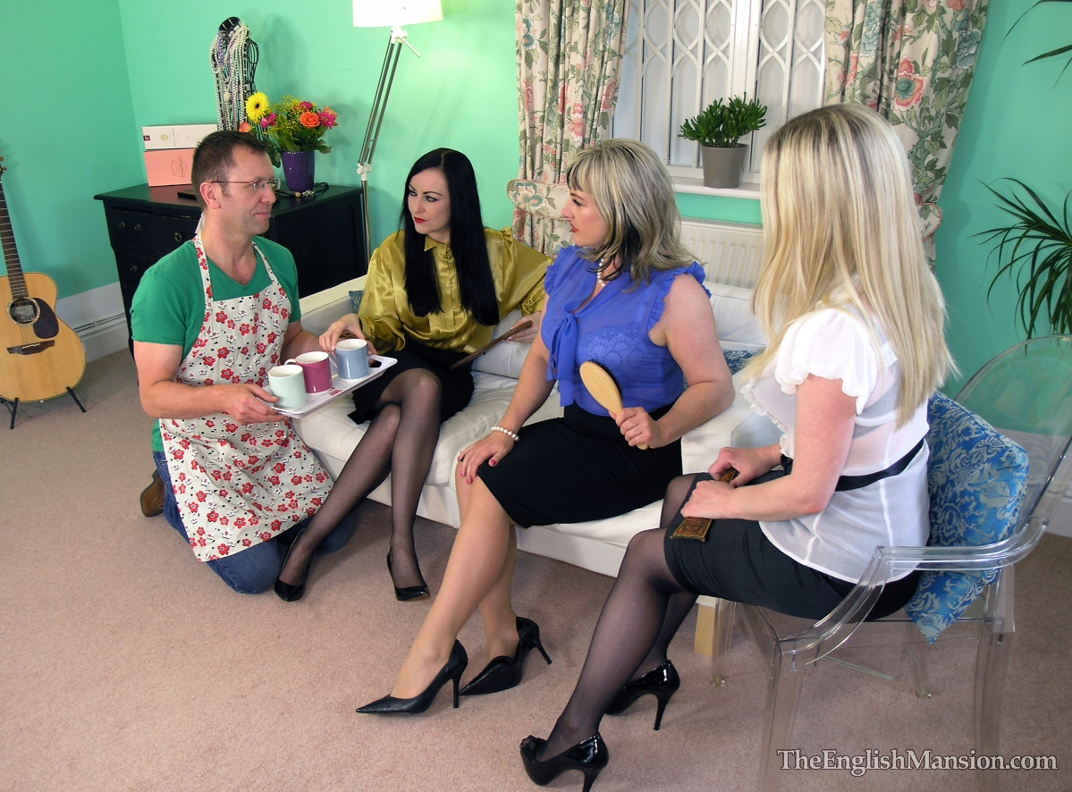 7 mistresses take turns otk spanking a sub - 1 part 1