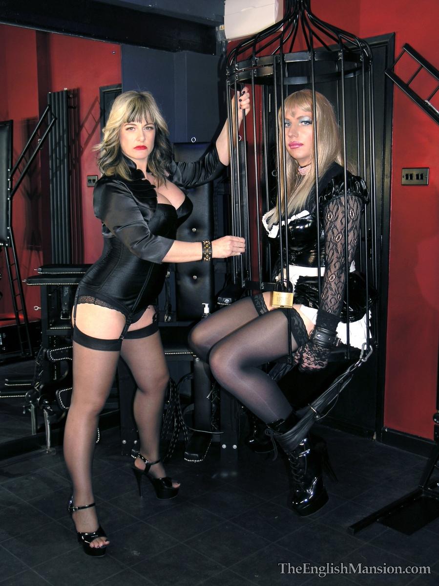 Sissy maid chastity spank