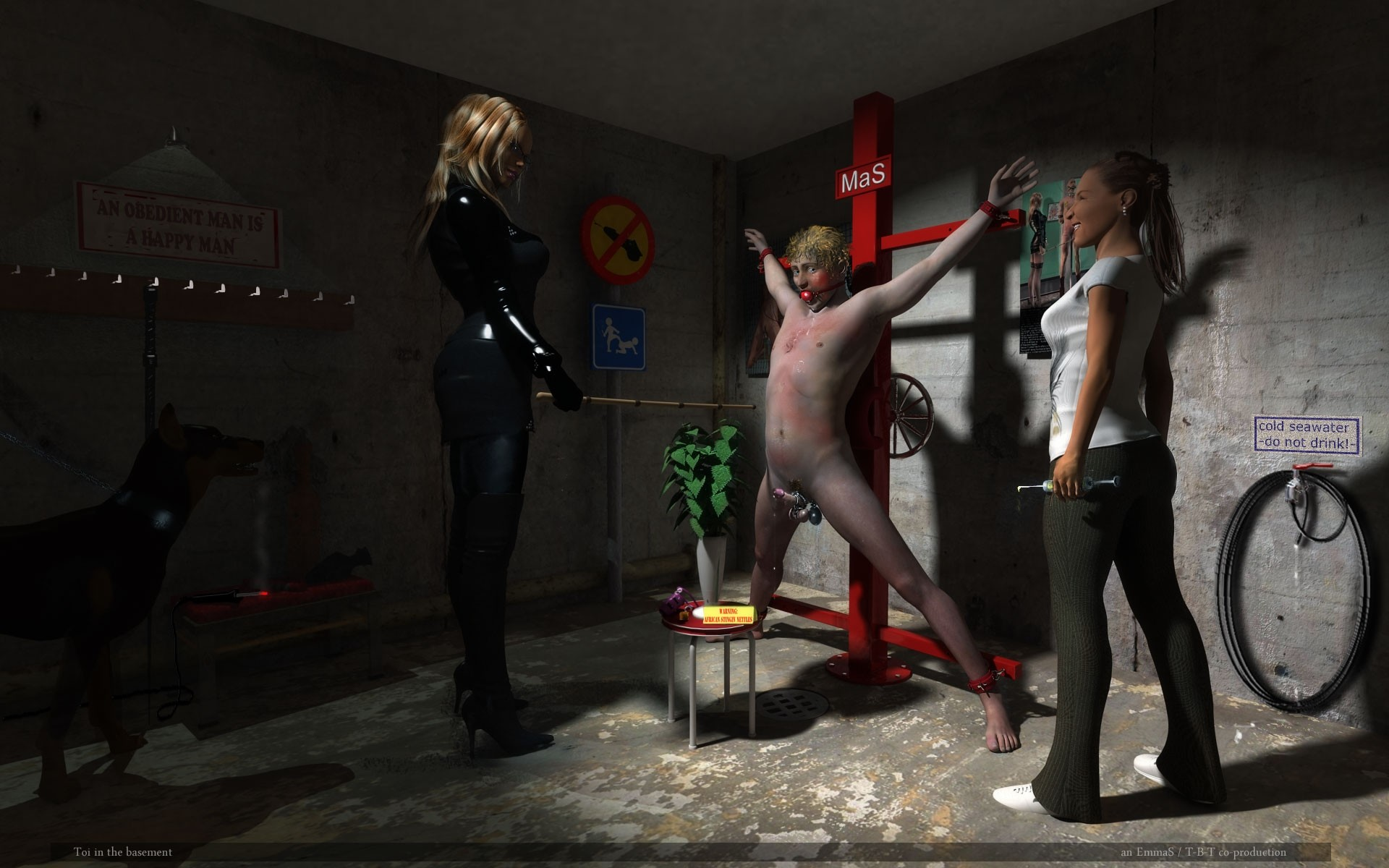 femdom art milking and castration domzine