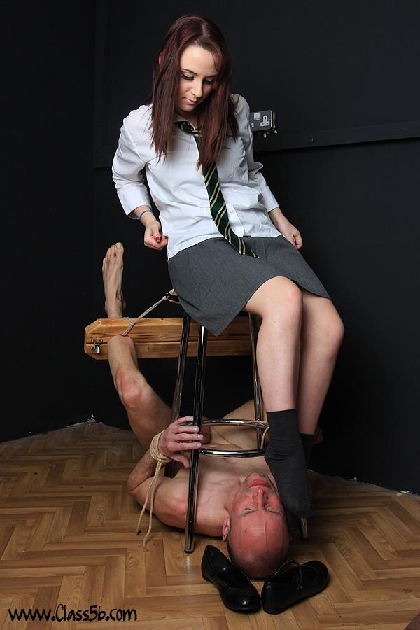 School mistress strapon and fucks fully bondaged slave boy 9