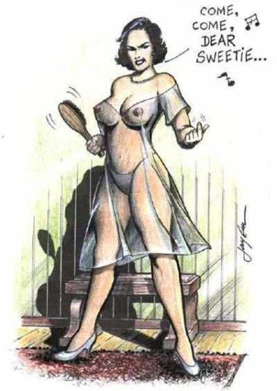 Retro femdom art