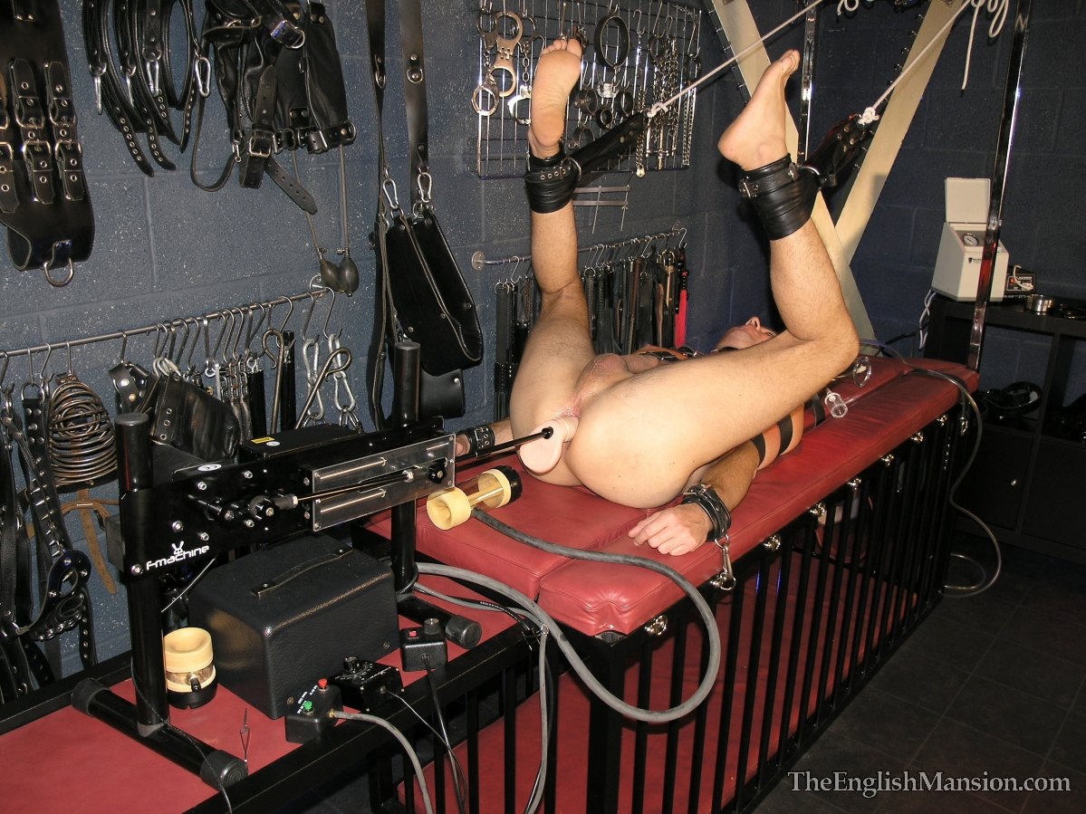 ballbusting fucking a machine