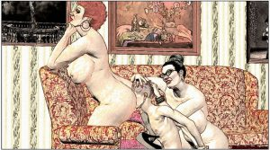 Mature femdom art