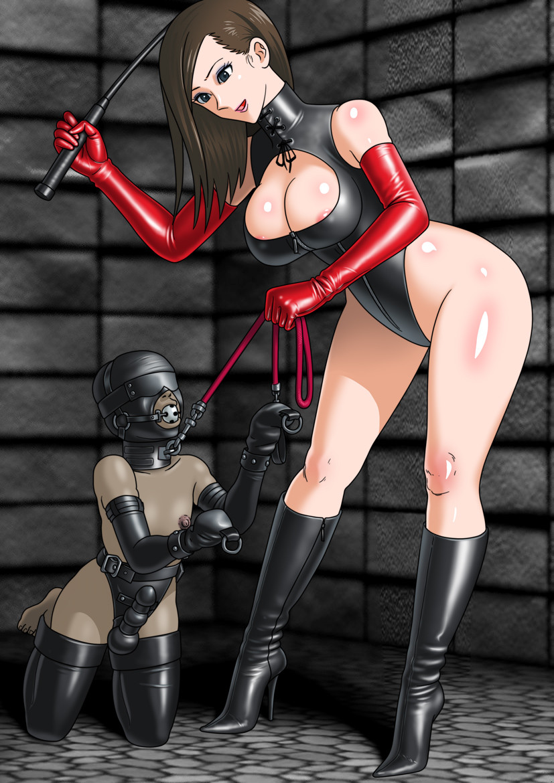 Femdom anime martial rubber bondage